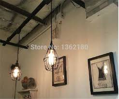 cable pendant lighting. 3 Pcs Of Black Twisted Cable Unique American Style Pendant Light,Vintage Bird Cage Decoration Lamp/Lights Free Via EMS-in Lights From Lighting I