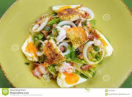 Korean Salad With Egg And Seafood Stock ...