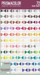 Sanford Prismacolors Chart Containing 72 Colors By