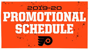 Flyers Theme 2019 20 Flyers Promotional Schedule Announced