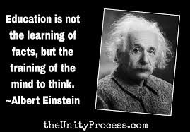 einstein on education the unity process