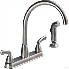 kitchen moen single handle faucet leaking at base