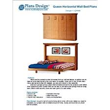 easy murphy horizontal queen size wall bed frame woodworking plans 1qhwb