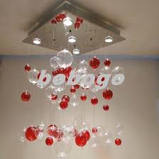 glass transpa red bubble chandelier ceiling light pendant lamp lighting d20 clear glass pendant lights outdoor pendant lights from bobogo