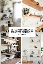 Floating Shelve Ideas 100 Floating Shelves Ideas For Different Rooms DigsDigs 2
