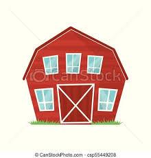 farm barn clip art. Red Wooden Farm Barn With Big Windows For Keeping Animals Or Agricultural Equipment. Cartoon Rural Clip Art