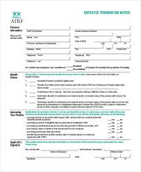 employee termination form template 18 employee termination templates word pdf excel free