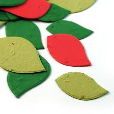 Biodegradable Paper With Flower Seeds Christmas Leaf Eco Confetti Plantable Eco Confetti Catalog