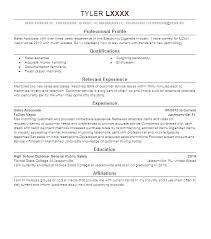 Resume Samples For Retail Sales Associate Store E Resume Sample
