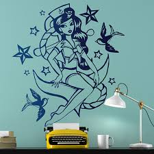 wall stickers sailor girl pin up