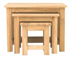 baumhaus mobel oak nest of 3 coffee tables baumhaus mobel solid oak 3