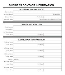 Update Contact Information Template