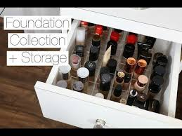 24 24 makeup collection storage foundations