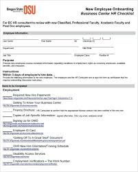 New Employee Template Welcome Email Hr Checklist Audit Example Free