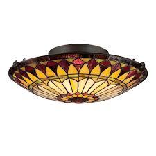 west end flush mount ceiling light vintage bronze