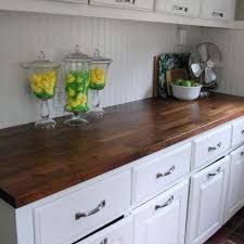 t butcher block countertop in finished walnut