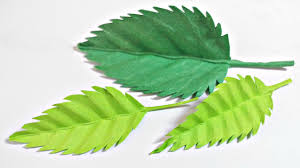 Designs Made From Leaves Paper Leaf Rose Leaves Diy Design Craft Making Tutorial Easy Cutting From Paper Step By Step