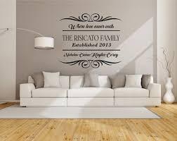 wall sticker designs for living room. family wall decal- living room decal, room, love never ends sticker designs for e