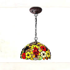 stain glass chandeliers hanging pool table style lamp 3 lights inside antique