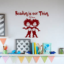extravagant dr seuss wall art reading i our thing vinyl decal e for wallpaper sticker decor mounted head uk nz iphone
