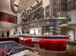 The bar at the Commons Club in the new 250-room Virgin Hotel in Chicago.  Credit Virgin Hotels