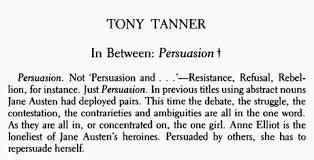 tony tanner ldquo in between persuasion rdquo classicsbookclub tony tanner essay 02