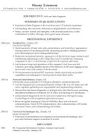 Sample Resume Software Sales Engineer