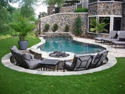 patio with pool simple. Brilliant With Pool Simple Wood Patio With Diy Fire Pit And