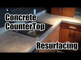 how to resurface a concrete counter top