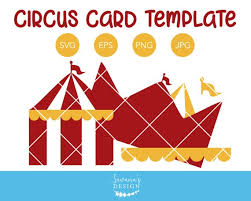 Circus Party Invitation Awesome Circus Tent Invitation Template Circus SVG Circus Card Etsy