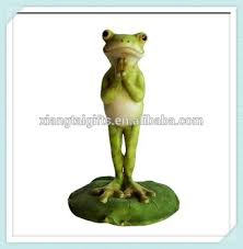 garden frog statue. Polyresin Yoga Frog On Lotus Leaf Namaste Garden Statue