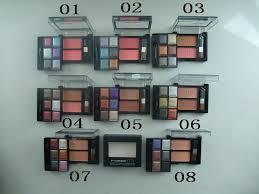 order mac eyeshadow 6 colors 2 blusher 8 size