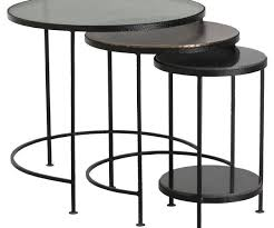 round nesting coffee table inspiring tables mesa silver in black mille 3 piece set