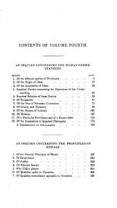 the philosophical works of david hume vol the inquiries  original table of contents or first page