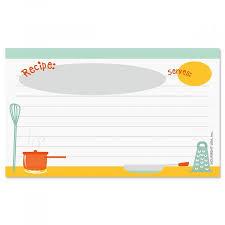 Kitchen Recipe Cards 3 X 5