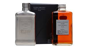 nikka from the barrel with hip flask gift set