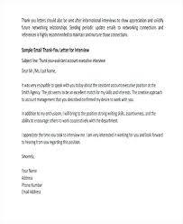 Thank You Letter After Interview Email Sample Thank You Letter Ideas