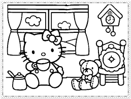 Hello Kitty Coloring Pages For Girls Classic Style Printable