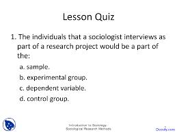 Sociological Research Sociological Research Methods Basics Of Sociology Quiz