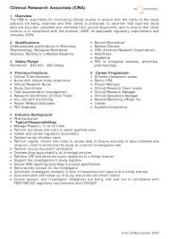 Resume For Clinical Research Associate Sample Resume For Clinical