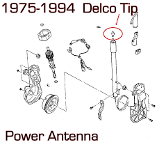 cadillac delco power antenna mast tip brand new 22072281 22049789 for other gm antenna parts