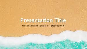 Free Beach Powerpoint Template Prezentr Ppt Templates Powerpoint