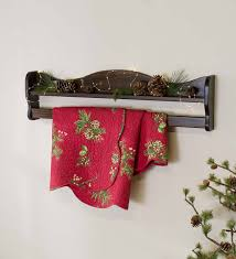 hanging wall mount wood quilt rack with shelf