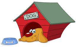 dog house clipart. Delighful Clipart Dog In Doghouse Smiling Dog His Doghouse Royalty Free Illustration For House Clipart