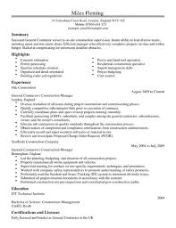 Contractor Resume Template Best Of General Contractor CV Example For Construction LiveCareer