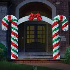 Large Candy Cane Decorations Outdoors Terrific Outdoor Christmas Candy Cane Decorations Super Large 2