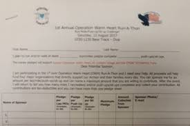 Fundraiser By Matt Smith 1st Operation Warm Heart Run A Thon