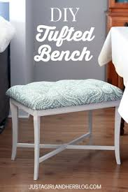 diy tufted bench