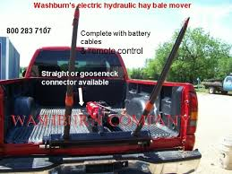 Gooseneck Pickup Truck 12 Volt Hydraulic Hay Bale Mover