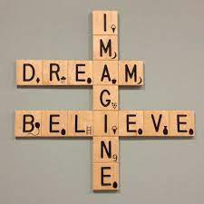 Come check out our giant selection & find yours today. Imagine Believe Crossword Wall Art Scrabble Wall Art Scrabble Crafts Scrabble Art